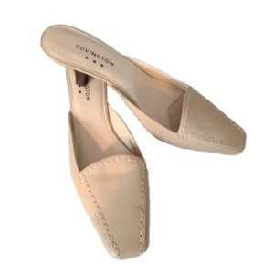 Covington Open Back Pumps in Bone